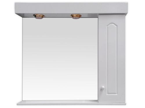 botiquín espejo baño peinador 80x70 laqueado blanco con luz