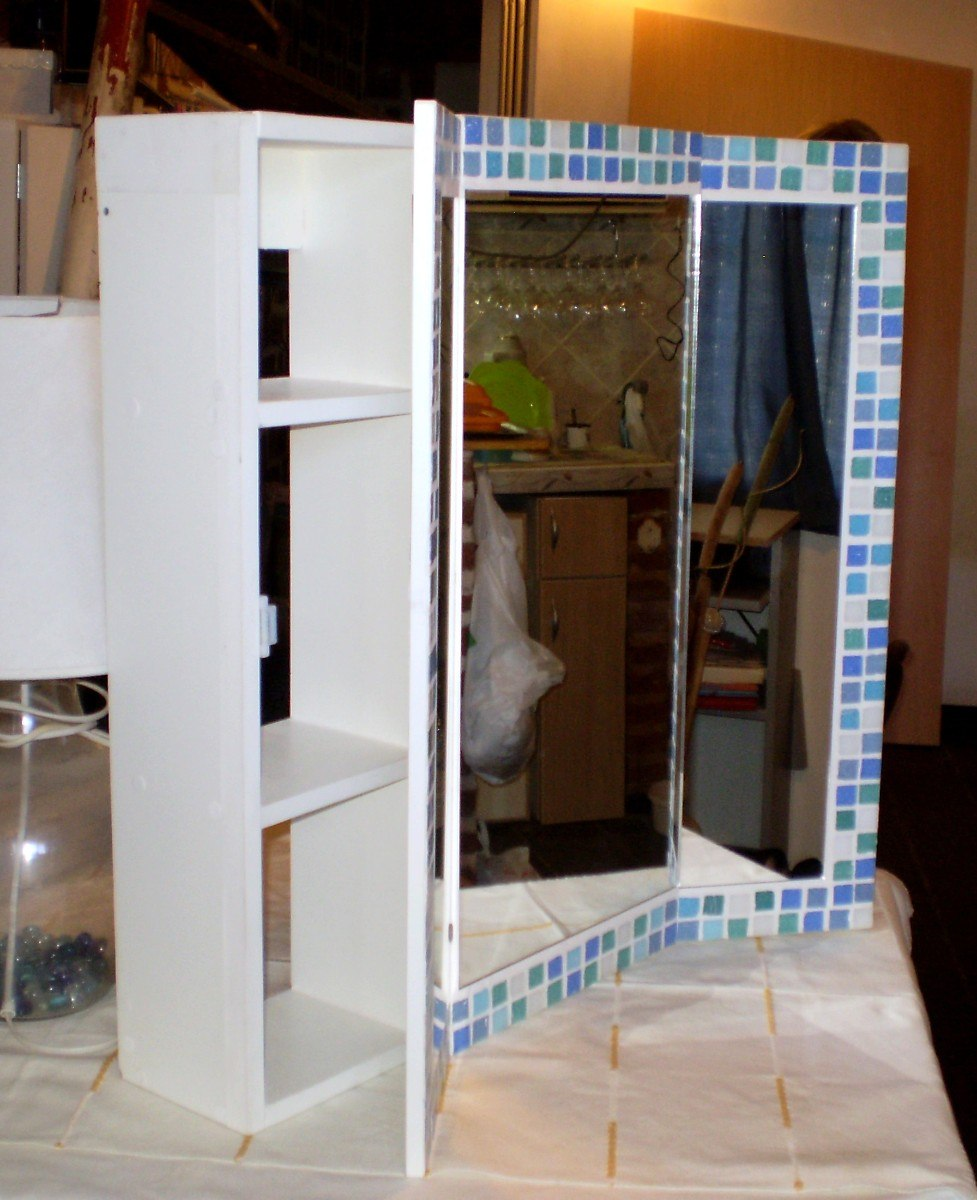 Botiquin Espejo Peinador Mueble Ba O Triptico Con Venecitas  # Muebles Peinadores De Madera