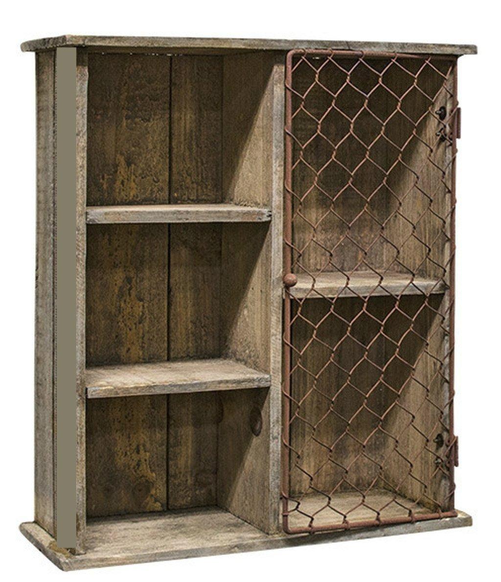 Botiquin gabinete de madera para ba o puerta d metal for Gabinetes de bano en madera