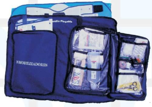 botiquin primeros auxilios basicos con camilla en cartonplas