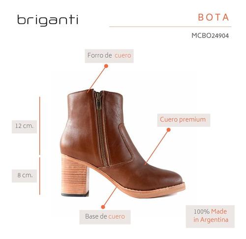 botita cuero mujer bota briganti zapato vestir - mcbo24904