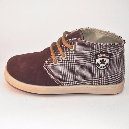 botita gamuza y cuadros small shoes 2 variantes