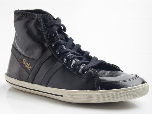 botita gola - modelo quarter high leather (cuero flor)