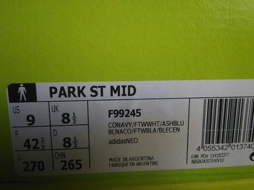 botitas adidas neo park st mid con gamuza originales