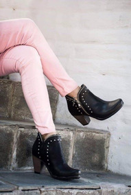 Botitas Botinetas Botas Taco Bajo Mujer Tipo Texanas Comodas