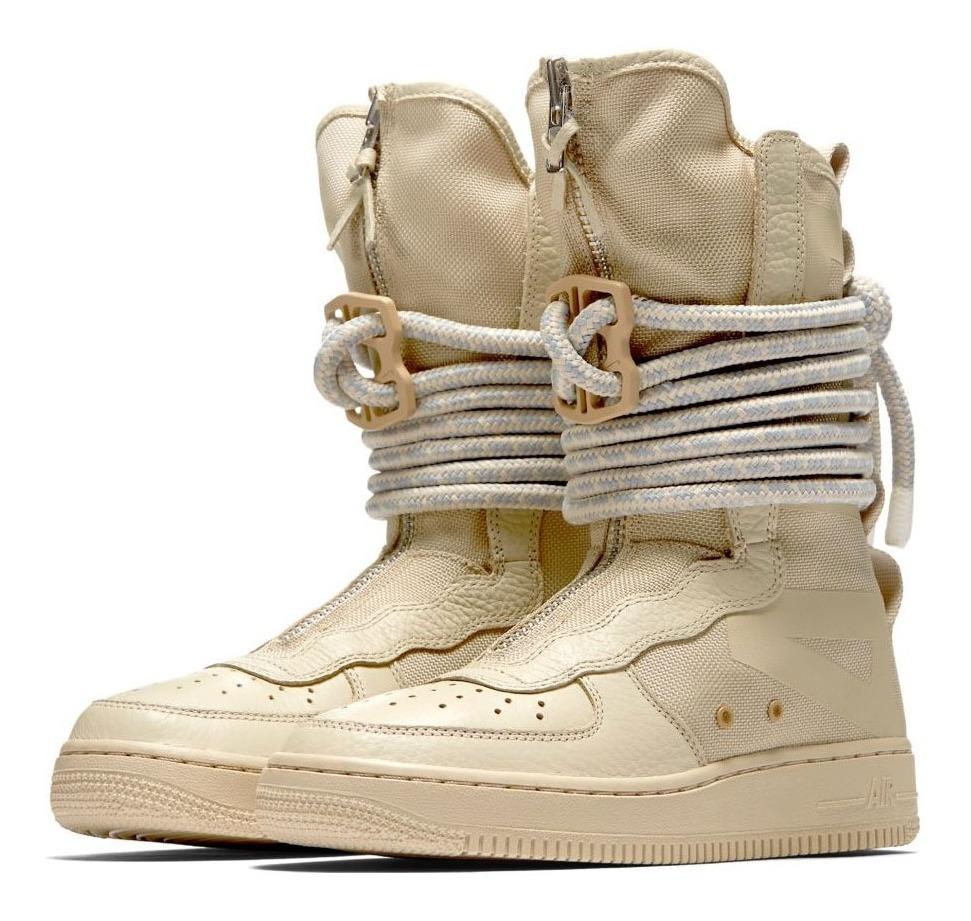 Botitas Nike Air Force 1 Hi Beige Mujer