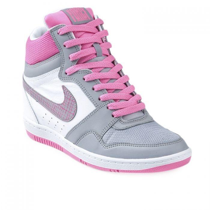 Botitas Nike Force Con Taco Interno De Mujer Gris -   2.299 2147e9a995bac