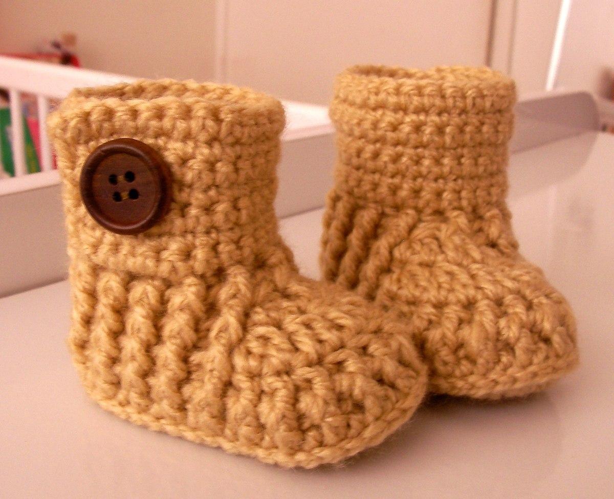 bebb5dcb Botitas Para Bebé Tejidas A Crochet Tallas 0-6 Meses - $ 5.500 en ...