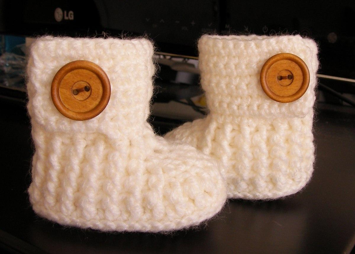 Botitas para beb tejidas a crochet tallas 0 6 meses 5500 en cargando zoom thecheapjerseys Choice Image