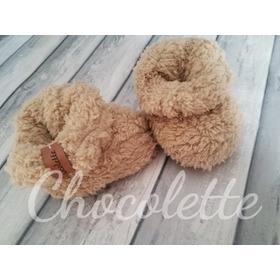 Botitas Teddy Calentitas Bebes Chocolette Bebes