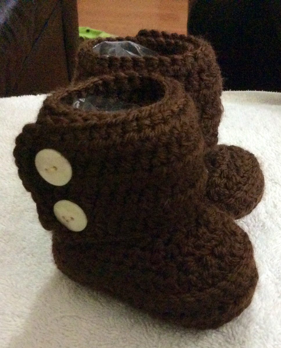 Botitas Tejidas Para Bebé. Crochet. -   140.00 en Mercado Libre 6b78b80b759b8