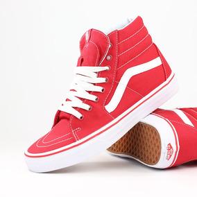 vans altas rojas mujer