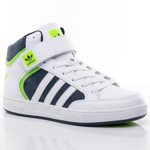 botitas varial mid white adidas sport 78