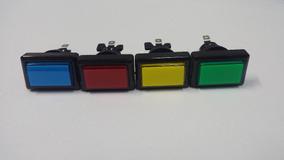 Botao Retangular Acrilico Com Micro - Peças e Acessórios de