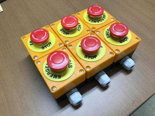 botão de emergência nr12 com caixa à prova d' água com trava