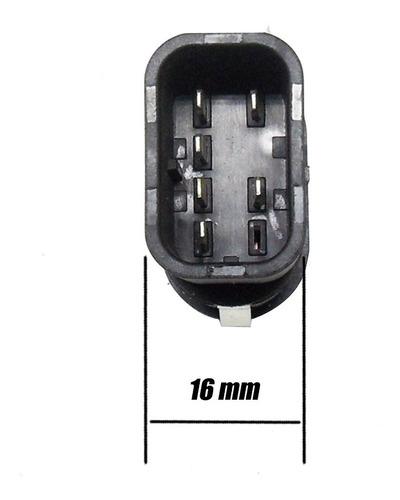 botão do vidro eletrico p/adaptação vermelho