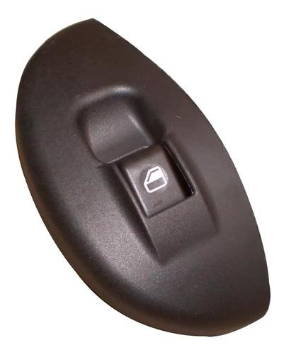 botão do vidro elétrico palio conchinha simples vermelho