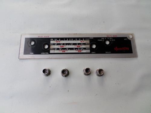 botão e painel radio sonata sonet antigo