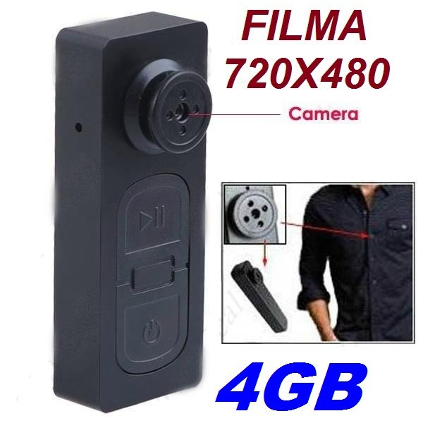 87d51e409 Botão Espião 4gb Detetive Lançamento Spy Micro Câmera - R$ 69,89 em Mercado  Livre