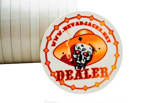 botão ficha dealer cerâmica poker