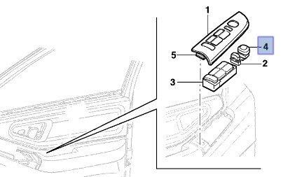 botão interruptor retrovisor elétrico s10 blazer silverado