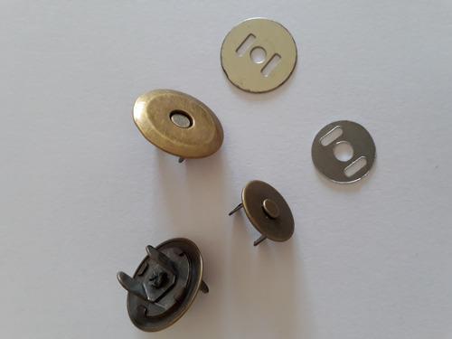 botão magnetico dourado 19mm pacote c/ 30 un. bolsa e clutch