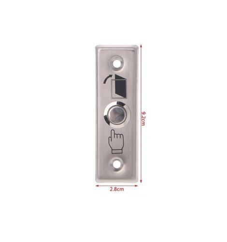 botão nf interruptor pulso porta campain inox slim  92x28mm