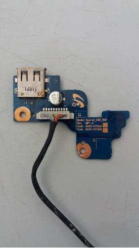 botão placa power + usb p o samsung rv411 frete grátis