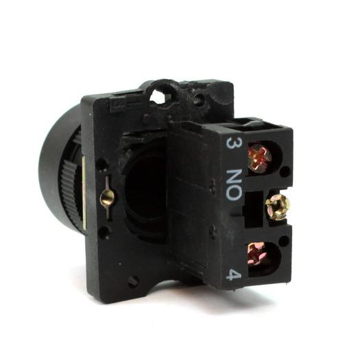 botão pulsador plastico p20bfr-w-1a branco 1na - metaltex