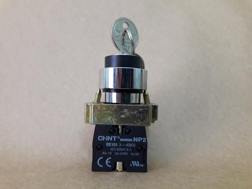 botão seletor metal 2p/3p fixa-c/ret 1na ou 1na/1na np2 bg