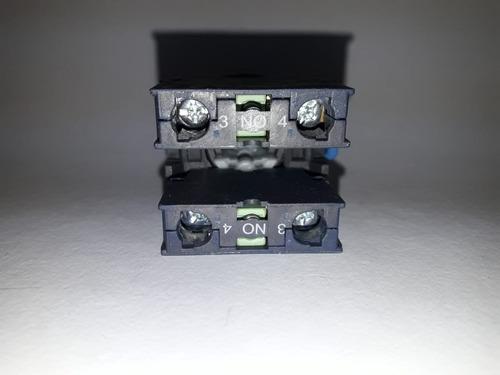botão seletor plástico 3p manual curta fixa verde 1na/1na