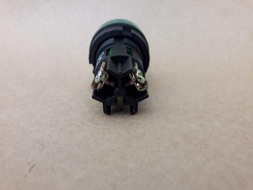 botão sinaleiro plastico verde np2 ev163 220v neon
