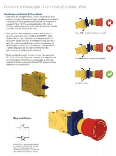 botoeira de emergência weg nr-12 monitorada