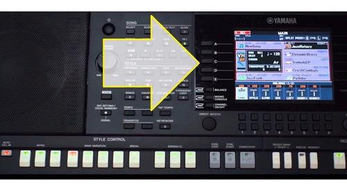 botões  abcde  p/ teclado yamaha psr s750 s950 original