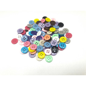 Botões Coloridos Para Roupas E Artesanato 300 Unidades 11mm