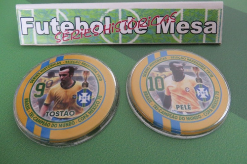 botões de acrílico - brasil 1970 - tri-campeão mundial