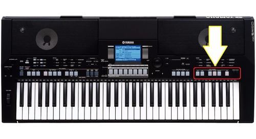 botões teclado yamaha psr s550 s500 dual harmony sustain etc
