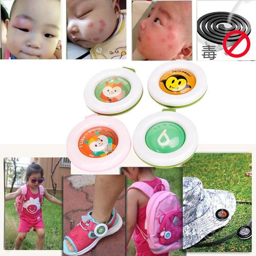 boton anti mosquito repelente a niños sin toxito 5pzs/set