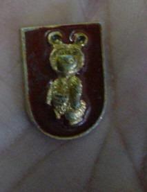 boton antigo -  moscou  1980  /  ursinho  misha