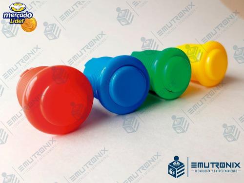 botón arcade mas microswitch para maquina de video juegos