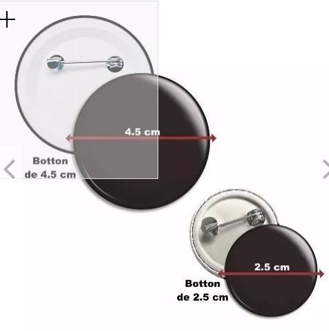 boton botton button personalizado 4,5 cm 100 peças o melhor