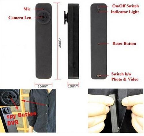 botón cámara espía 4gb funciona con anillo