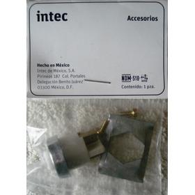 Boton Cromo Para Frente De Interfon Intec Fe-5