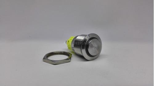 boton de acero inoxidable con retención - 19mm azul ip67