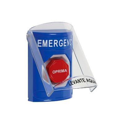 botón de emergencia con tapa de proteccion