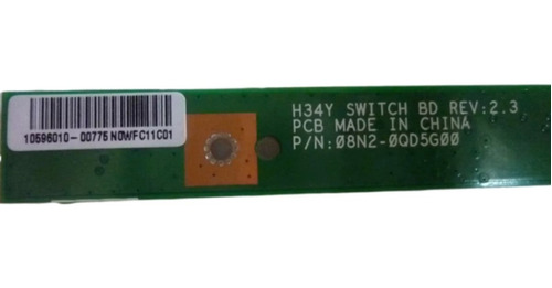 boton de encendido  notebook bangho l630 l650 l660