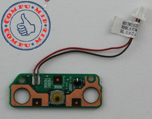 botón de encendido toshiba c650 c655 6017b0258201