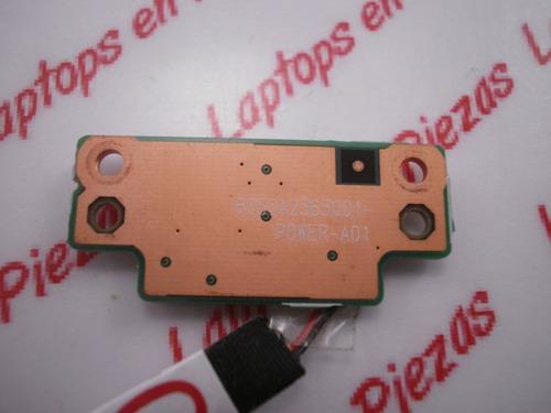 boton de encendido  toshiba satelite c640 6017b0268401
