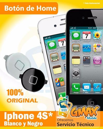 botón de home iphone 4 4s blanco o negro nuevo
