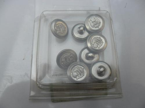 botón de metal plateado mate (10)